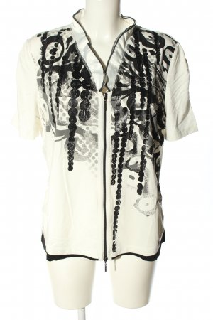 Biba Print-Shirt weiß-schwarz Motivdruck Casual-Look