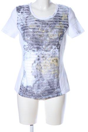 Biba Print Shirt white-blue abstract pattern casual look