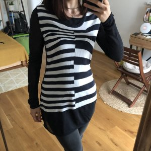 Biba Sweater Dress dark blue-white