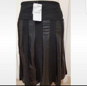 Biba Falda de cuero negro