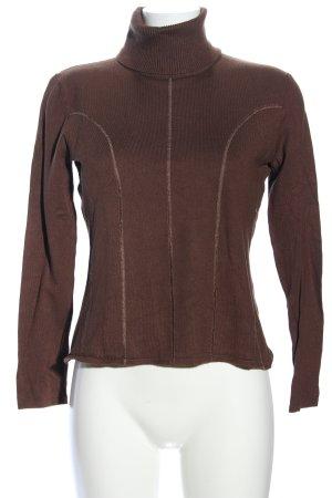 Biba Turtleneck Sweater brown casual look