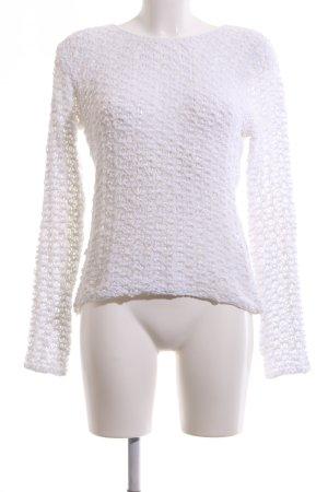 Biba Crewneck Sweater white casual look