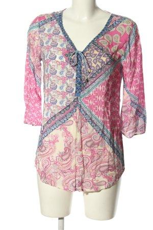 Biba Schlupf-Bluse abstraktes Muster Casual-Look