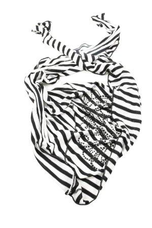 Biba Schoudersjaal wit-zwart gestreept patroon casual uitstraling