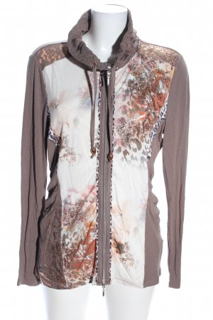 Biba Shirt Jacket light grey-natural white mixed pattern casual look