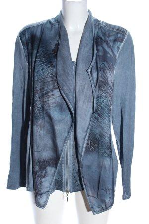 Biba Shirt Jacket light grey abstract pattern casual look