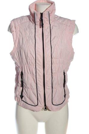 Biba Gilet matelassé rose motif de courtepointe style décontracté