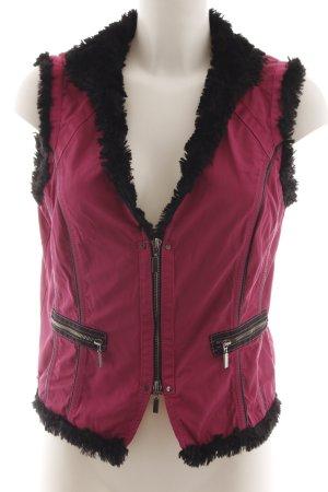Biba Steppweste pink-schwarz Casual-Look