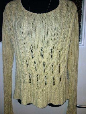 Biba Pull à gosses mailles brun sable-beige coton