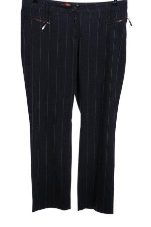 Biba Stoffhose schwarz-weiß Streifenmuster Business-Look