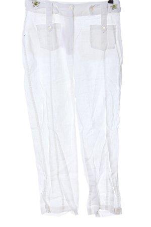 Biba Pantalone jersey bianco stile casual