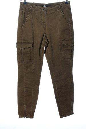 Biba Pantalone jersey marrone stile casual
