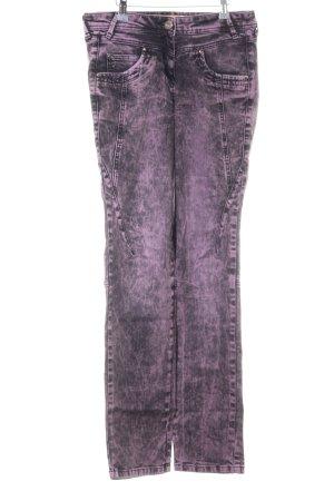 Biba Jeansy z prostymi nogawkami fiolet W stylu casual