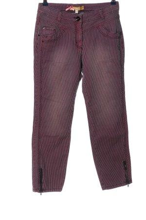 Biba Jeansy z prostymi nogawkami fiolet-czarny Na całej powierzchni