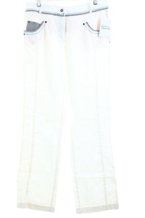 Biba Jeansy z prostymi nogawkami biały W stylu casual