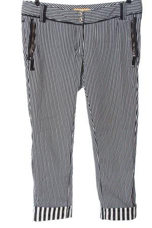 Biba Straight Leg Jeans white-black striped pattern casual look