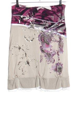 Biba Spódnica ze stretchu Abstrakcyjny wzór W stylu casual