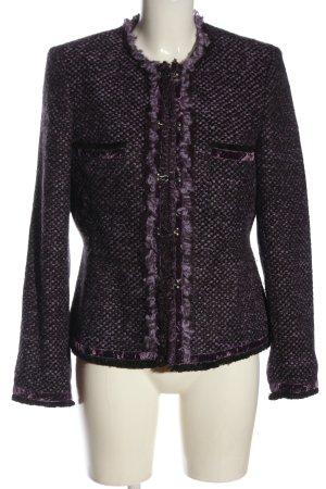 Biba Gebreide blazer lila Webpatroon casual uitstraling