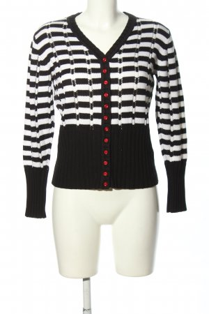 Biba Strickjacke schwarz-weiß Streifenmuster Business-Look