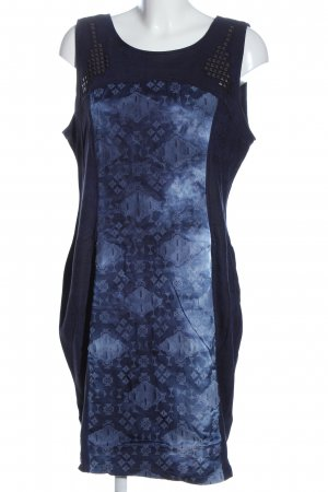 Biba Knitted Dress blue abstract pattern casual look