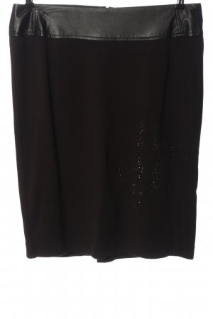 Biba Falda de punto negro look casual