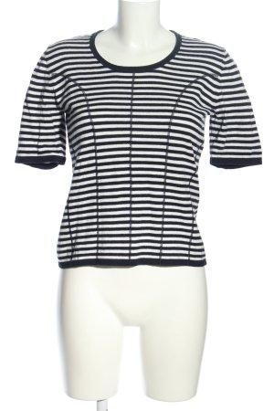 Biba Strickshirt schwarz-weiß Streifenmuster Casual-Look