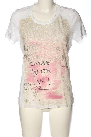 Biba T-shirt caratteri stampati stile casual