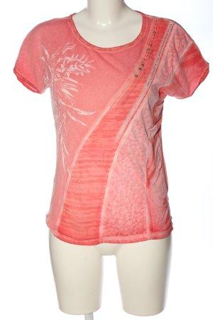 Biba T-shirt rosso Stampa a tema stile casual