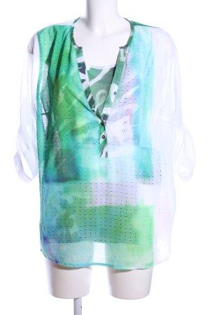 Biba Transparenz-Bluse abstraktes Muster Casual-Look