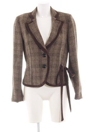 Biba Tweed Blazer brown check pattern vintage look