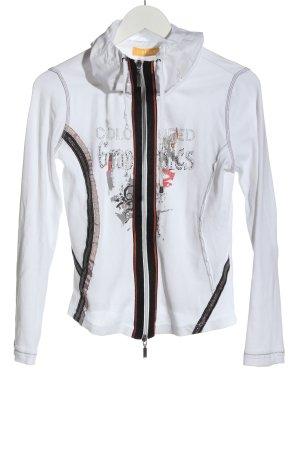 Biba Kurtka przejściowa biały-jasnoszary Nadruk z motywem W stylu casual