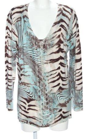 Biba V-Neck Sweater allover print casual look
