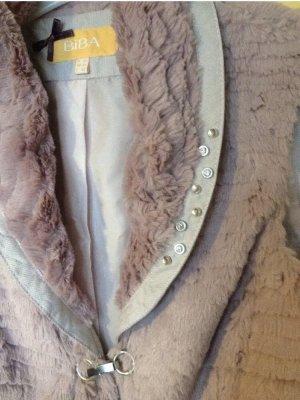 Biba Fake Fur Vest dusky pink