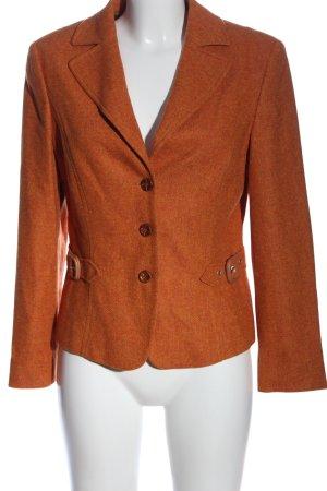 Biba Wollen blazer licht Oranje casual uitstraling
