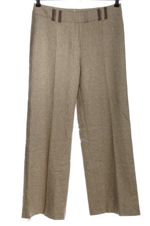 Biba Wollen broek bruin-wolwit casual uitstraling