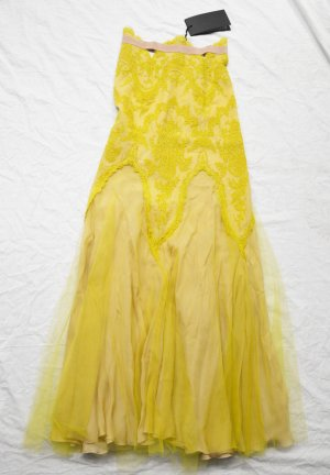 Tulle Skirt lime yellow silk