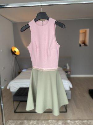 Bibi Bachtadze Abito cut out rosa pallido-verde-grigio