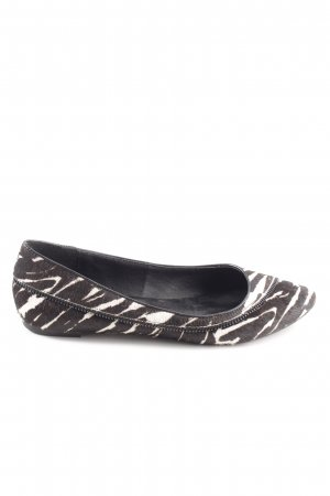 Bibi Lou Slingback Ballerinas brown-white animal pattern casual look