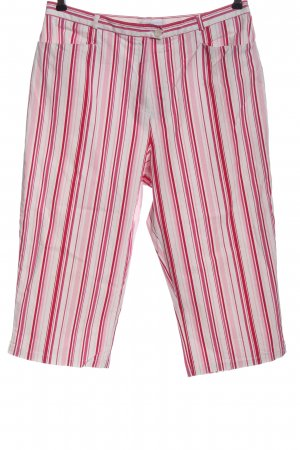 Big & Chic Spodnie 3/4 różowy-biały Na całej powierzchni W stylu casual