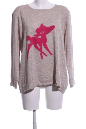 Bicalla Oversized Pullover braun meliert Casual-Look