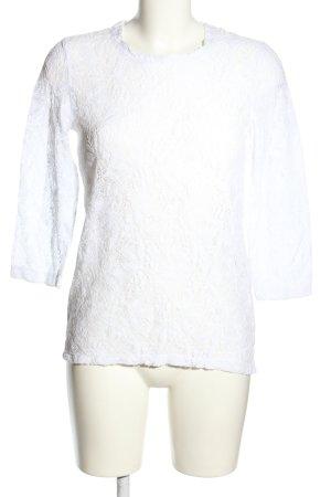 Bicalla T-Shirt weiß Blumenmuster Business-Look