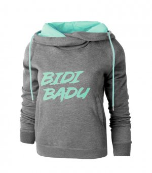 Bidi Badu Bluza dresowa antracyt-turkusowy