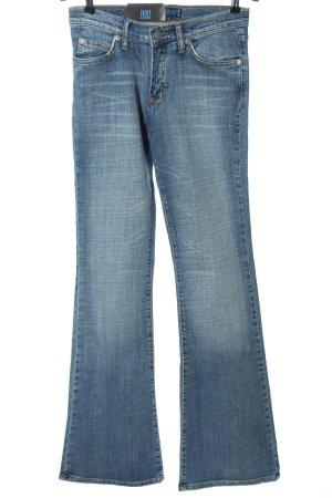 Big Blue Jeansschlaghose blau Casual-Look