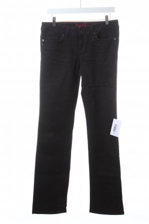 Big Blue Skinny Jeans black street-fashion look