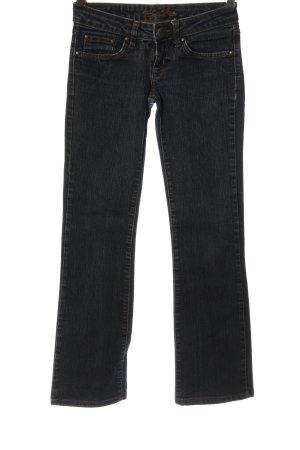 Big Blue Jeans met rechte pijpen blauw casual uitstraling