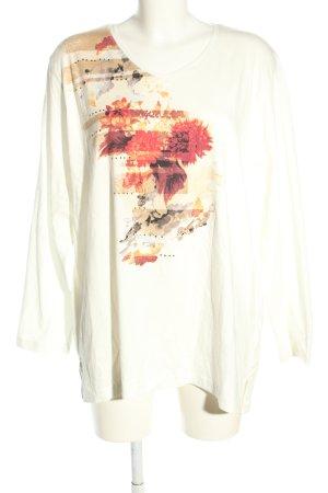 Big & Chic Koszulka z długim rękawem Wzór w kwiaty W stylu casual