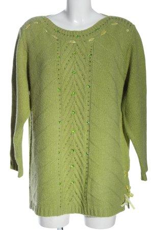 Big & Chic Sweter z okrągłym dekoltem zielony W stylu casual
