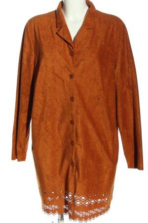 Big & Chic Płaszcz przejściowy jasny pomarańczowy W stylu casual