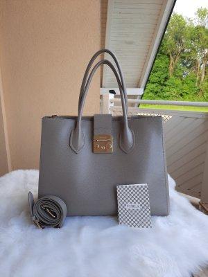 BIG Furla Bag, Furla Metropolis, grau, goldene Hardware, Shoulderbag, Handlebag, Handbag