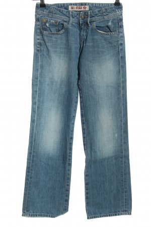 Big Star Jeansschlaghose blau Casual-Look